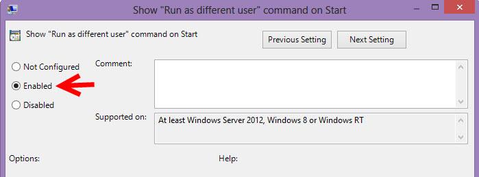 Run as different user 03
