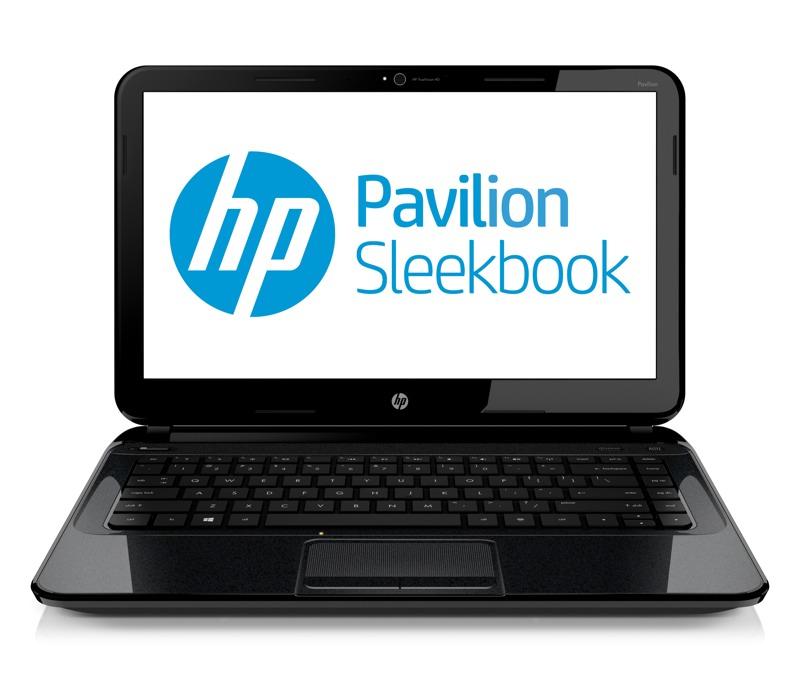 hp pavilion sleekbook 14blackfront