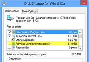 ลบโพลเดอร์ Windows.old ใน Windows 8