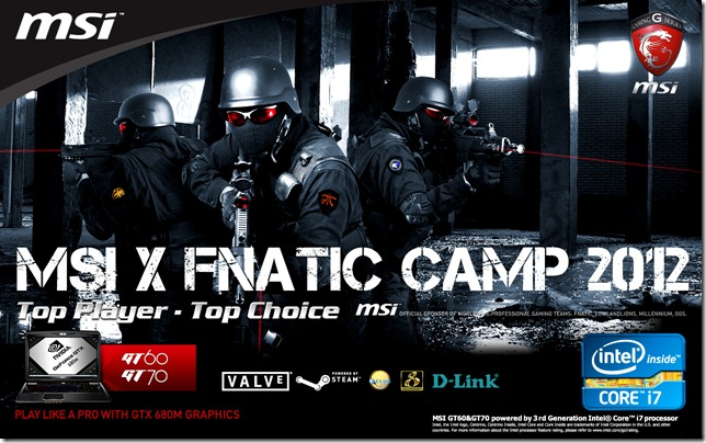 MSI x Fnatic Camp 2012