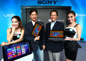 Sony รุกตลาดโน้ตบุ๊กเปิดตัว Vaio จอทัชสกรีนรุ่นใหม่ พร้อมระบบปฏิบัติการ Windows 8