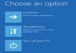การเข้า Startup Options Menu ของ Windows 8