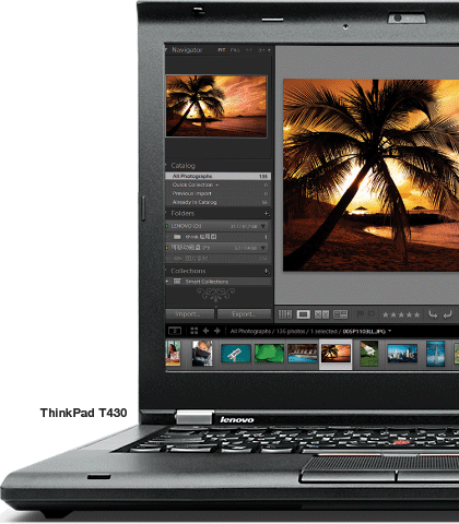 ThinkPad T430 laptop powered for productivity