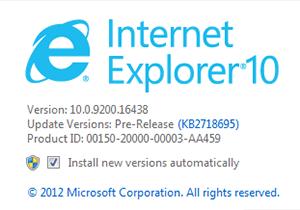 Microsoft ส่ง Internet Explorer 10 รุ่นพรีวิวสำหรับ Windows 7 มาให้ลองใช้แล้ว