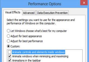 ปิดการใช้งานแอนิเมชันเมื่อเริ่มสตาร์ท Windows 8 เพื่อความรวดเร็ว