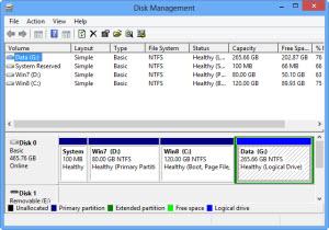 การเข้าถึง Disk Management ใน Windows 8