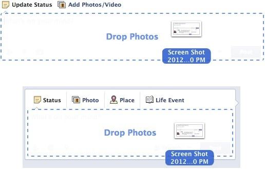 facebook drag and drop photos