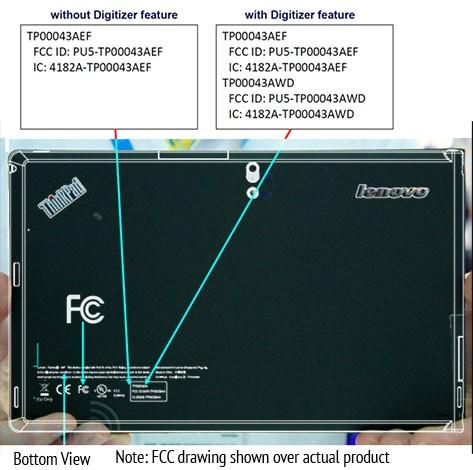 Lenovo ThinkPad Tablet Windows 8 รุ่น 3G ผ่านการรับรองจาก FCC แล้ว