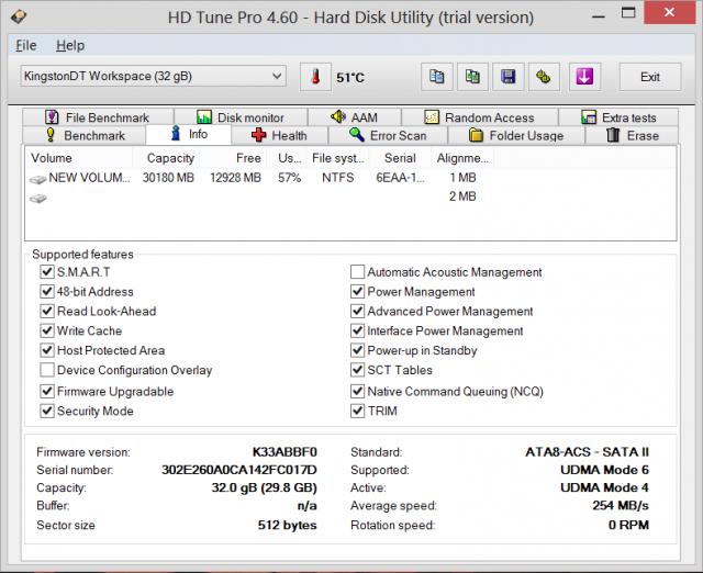 HDD Tune Info