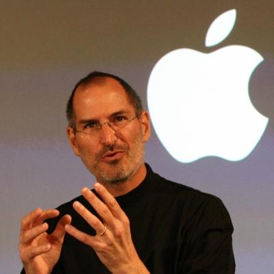 Jobs and Apple Logo