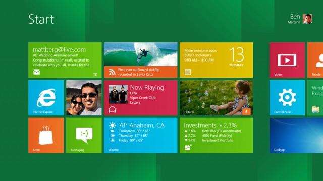 Windows Developer Preview A Start Screen Web