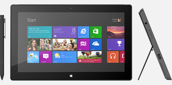 microsoft surface pro with pen