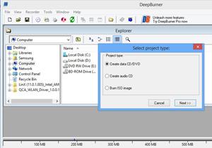 Deep Burner โปรแกรมไรท์ข้อมูลลงแผ่นได้ง่ายๆ ไม่กี่ขั้นตอน