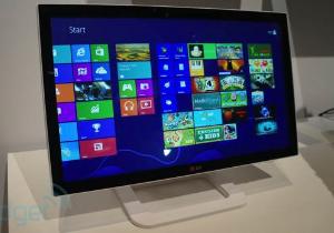 [CES 2013] LG ET83 หน้าจอมอนิเตอร์ทัชสกรีน 23 นิ้ว ดีไซน์สวย สำหรับ Windows 8