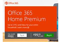 Microsoft ปล่อย Office 365 เวอร์ชั่น Home Premium แล้ว ราคา $99 ใช้ได้ 5 เครื่องเป็นเวลา 1 ปี