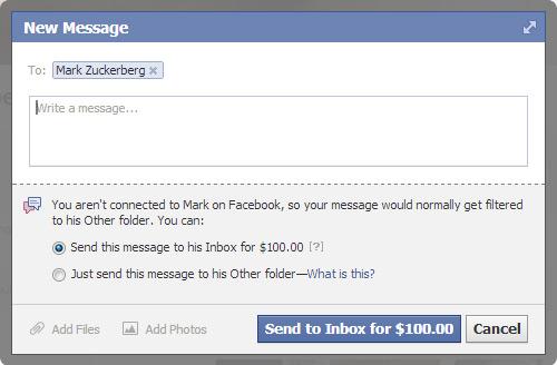 zuckerberg 100dollar message