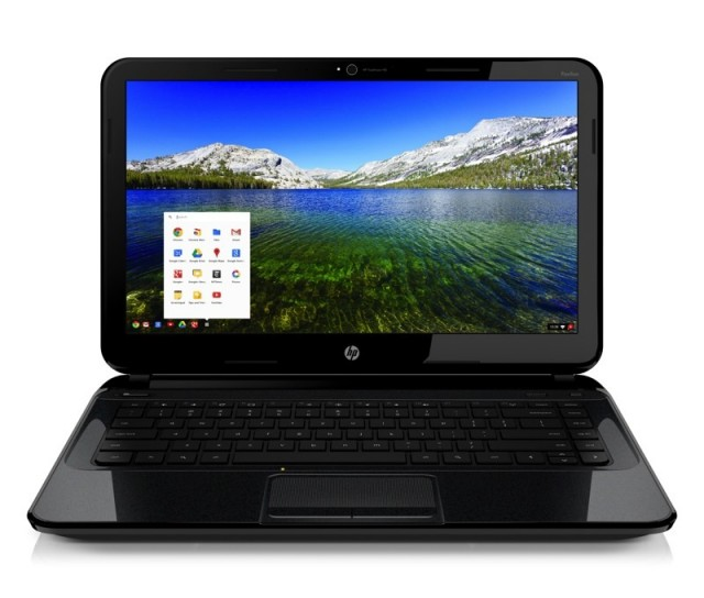 hp chromebook front facing