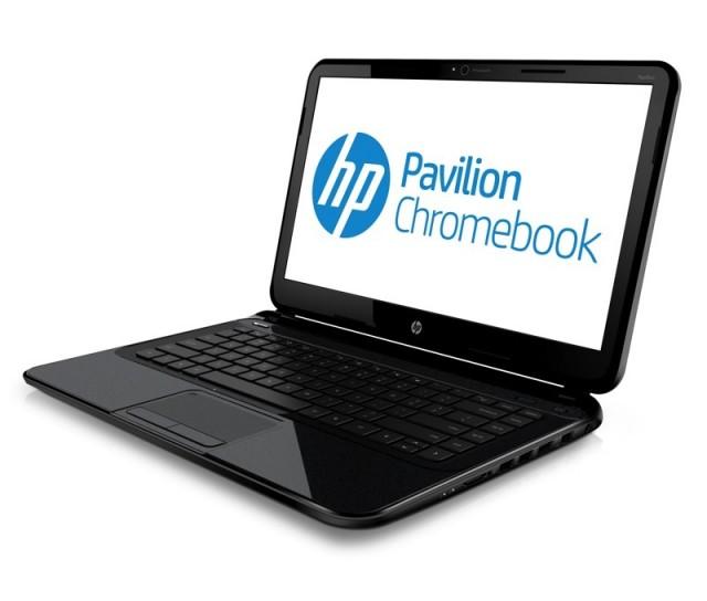 hp chromebook left facing