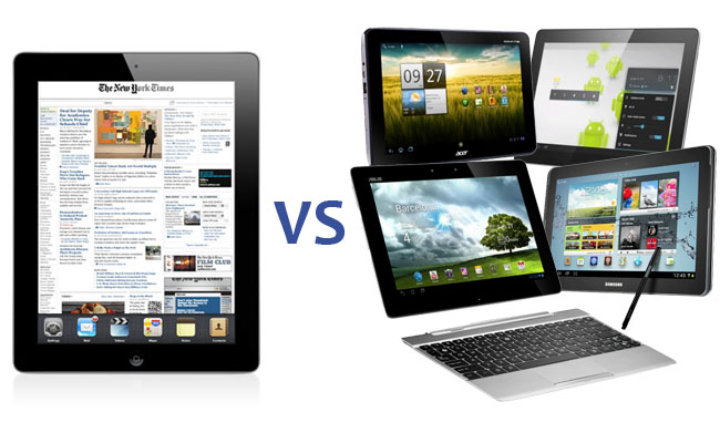 the new ipad vs android tablets