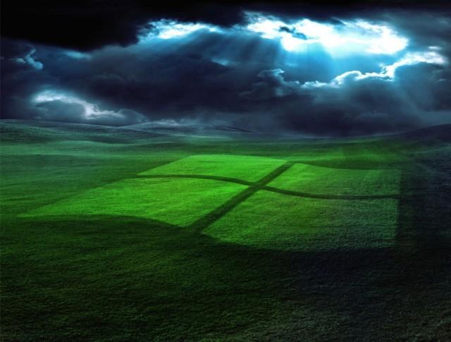 windows logo flag field