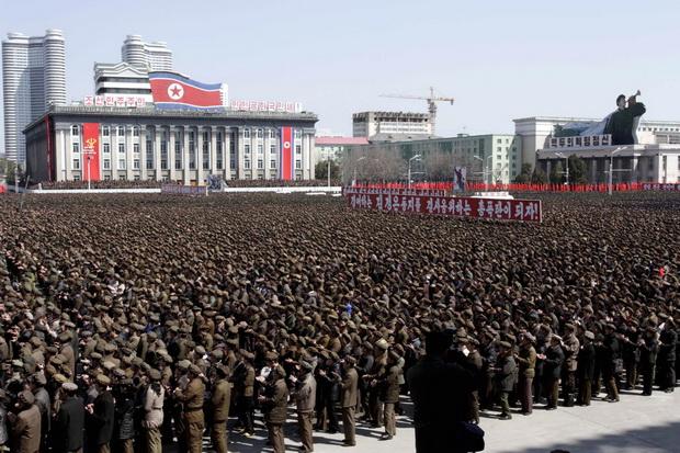 human pixels of north korea