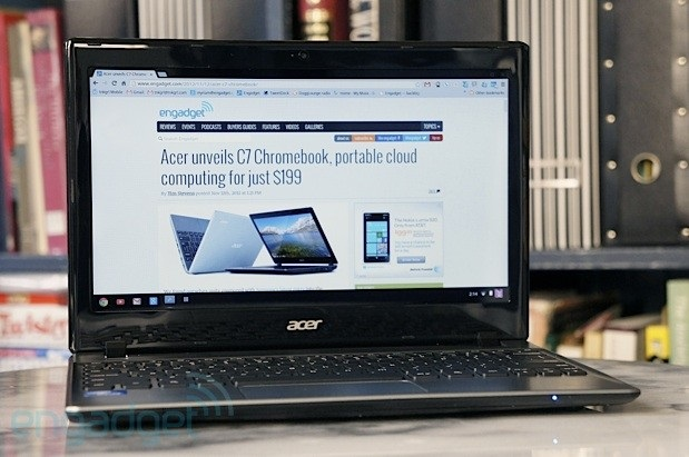 Acer C7 Chromebook ปรับปรุงใหม่ เพิ่มแบตเตอรี่ให้ใช้ได้ 6 ชั่วโมงแต่ยังแพ้ Samsung ที่ใช้ซีพียู ARM-based