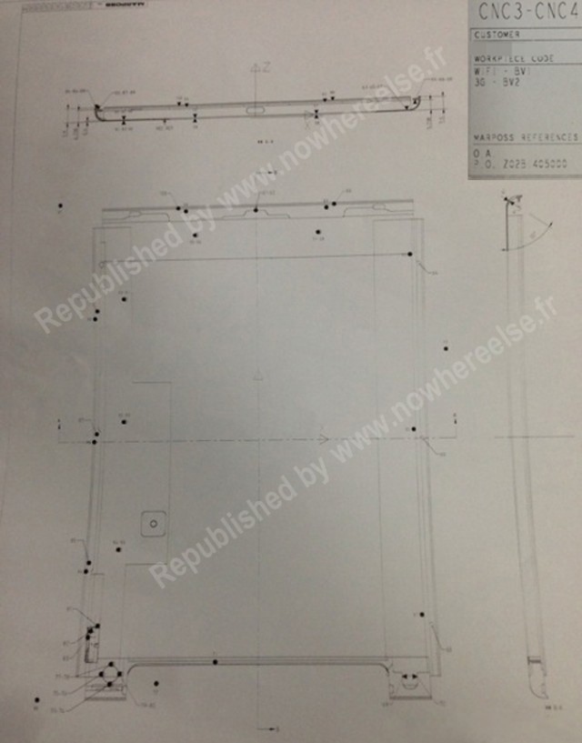 Leaked Apple iPad 5 design schematics 2