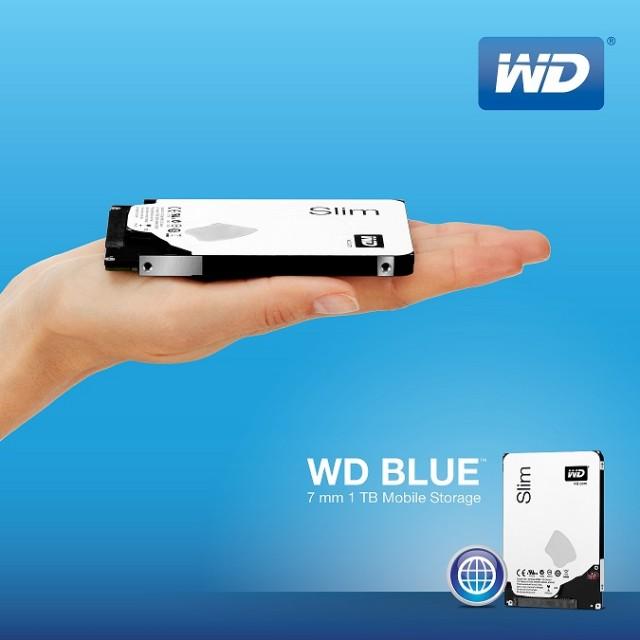 WDBlue 7mm 1TB Re