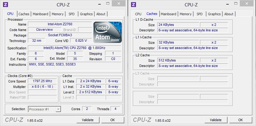 CPUZ Atom