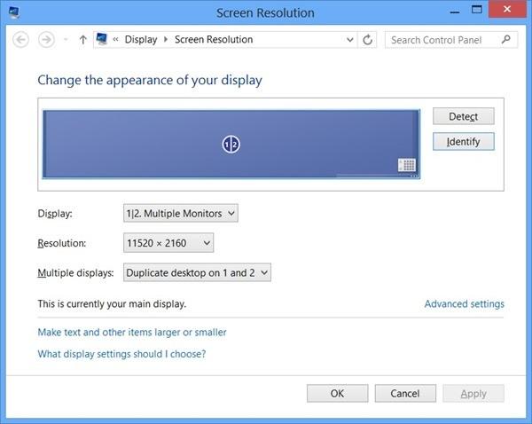 Display CPL Resolution Eyefinity