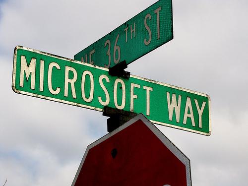Microsoft Way Street Sign