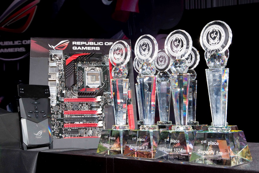PR ASUS Maximus VI Extreme took ten out of eleven wins at the Intel and Corsair Computex OC Main Event 1