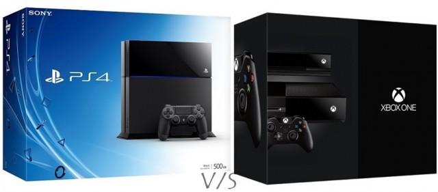 PS4 vs Xbox One box cover art