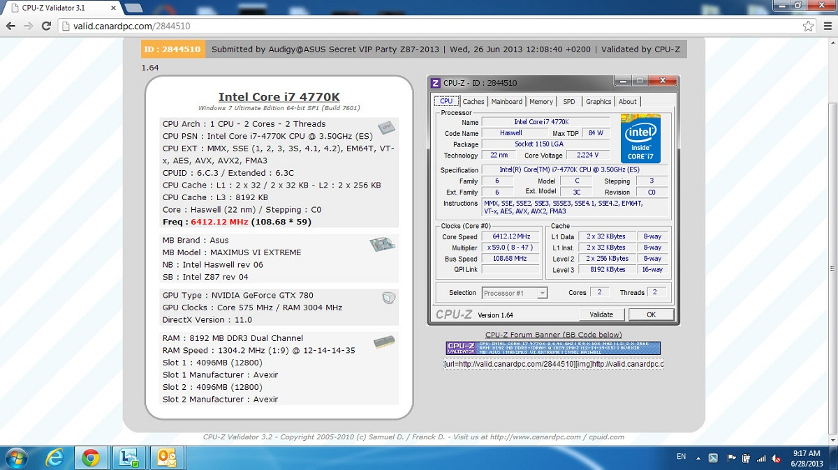 Z87 VIP CPU OVERCLOCKING.