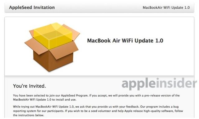 appleseed macbook air wifi