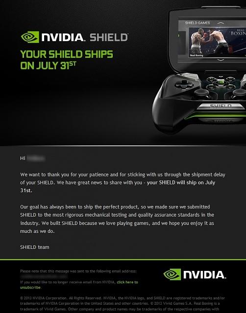 nvidi shield email