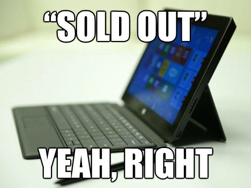 surface pro sold out