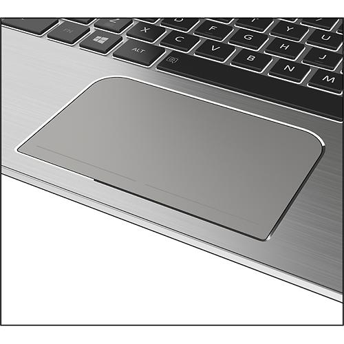 Toshiba Satellite E45t ultrabook touchpad closeup