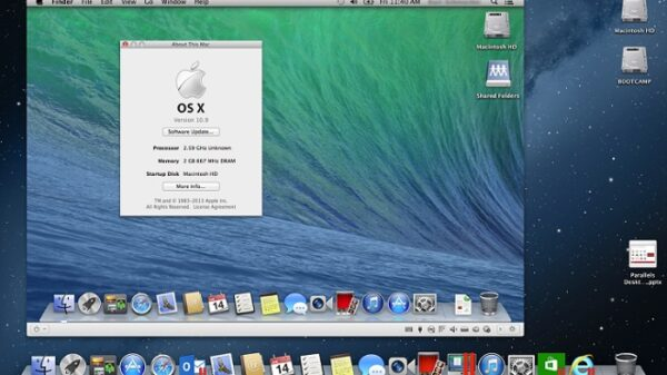 parallels os x mavericks
