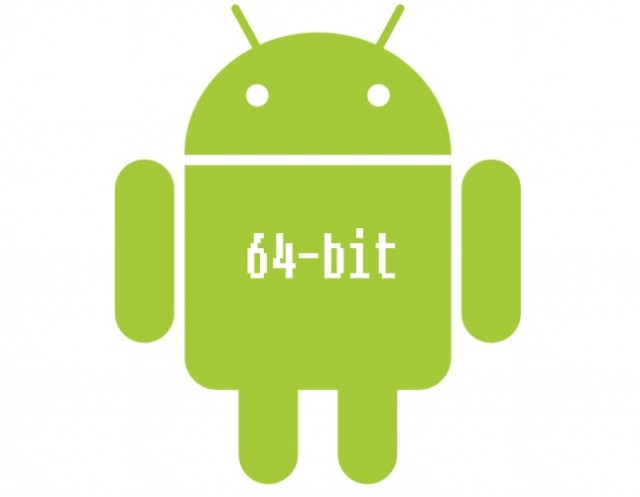 android logo with 64 bits 1