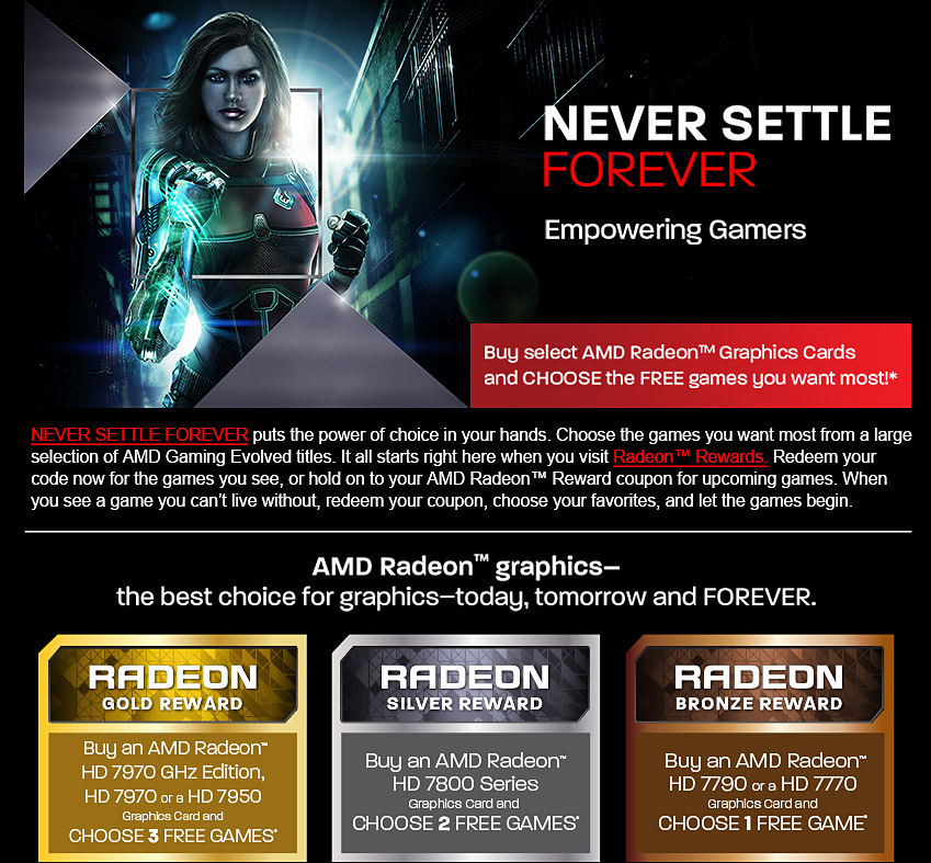 Never settle forever silver for 7800 series coupon