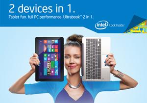 Notebook 2 in 1 ใช้งานเป็นแท็บเล็ตก็ได้ หรือโน้ตบุ๊คบางเบาก็ดี