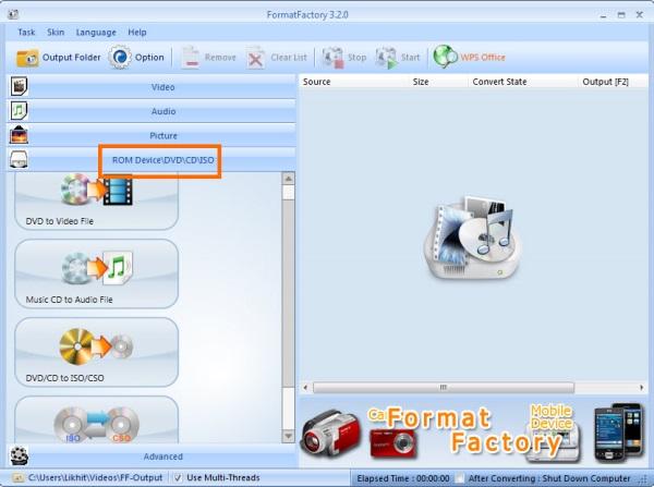 FormatFactory Convert ISO 1