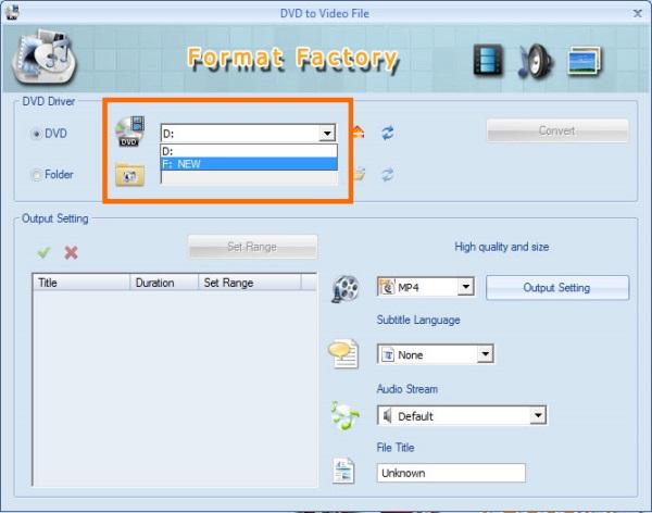 FormatFactory Convert ISO 2