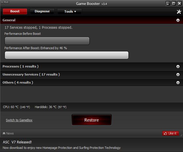 GameBooster AdvanceSystemCare 7