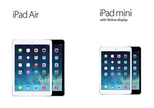 iPad Air and iPad mini with retina