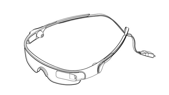 Samsung Sport Glasses Design Patent 1