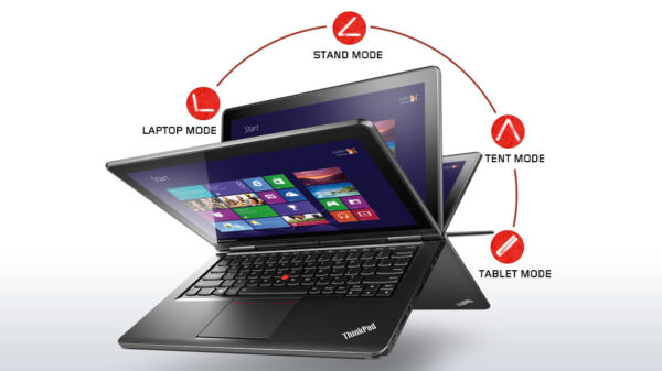 lenovo laptop convertible thinkpad yoga silver front 1 1