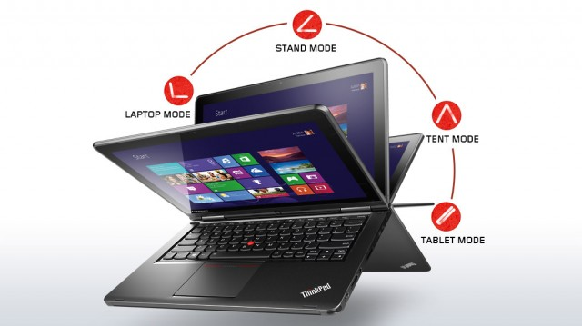 lenovo laptop convertible thinkpad yoga silver front 1