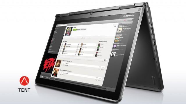 lenovo laptop convertible thinkpad yoga silver tent mode 5